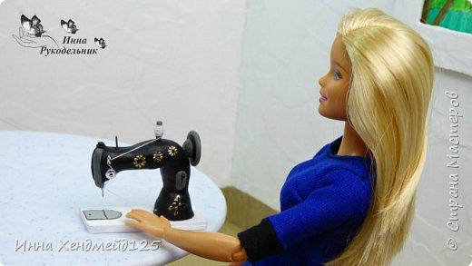 Продолжаю создавать кукольный мир своими руками. Для кукол сделала швейную машинку.  Она получилась такой милой) Как вы думаете, что ещё можно создать для кукольной мастерской?  Материал: полимерная глина. фото 2