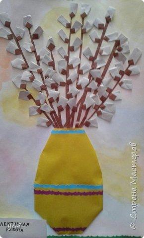 ваза с веточками вербы