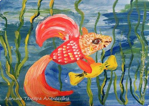 Доброе время суток! Предлагаю посмотреть работы моих воспитанников по созданию рыбки своей мечты. Рабка, приносящая конфеты с моря Маши Б.6 лет