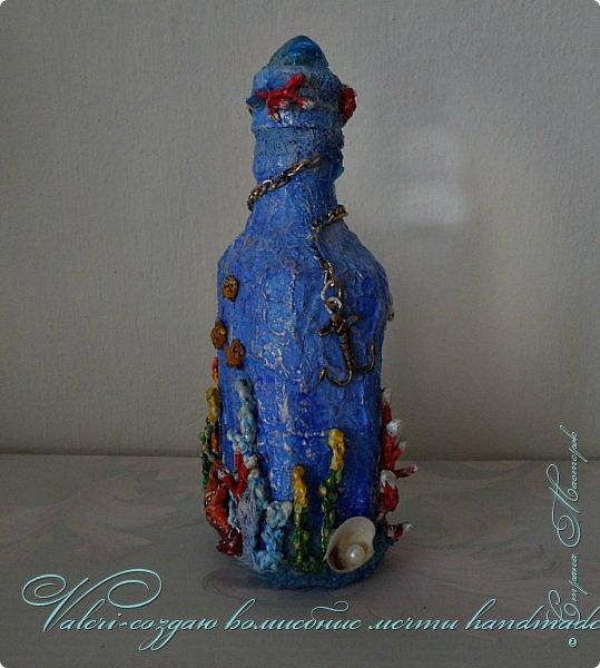 Всем огромный привет!!!!! Наконец то окончила монтаж новой видео-работы, представляю Вашему вниманию декор бутылочки в морском стиле: фото 3