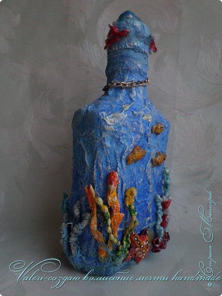 Всем огромный привет!!!!! Наконец то окончила монтаж новой видео-работы, представляю Вашему вниманию декор бутылочки в морском стиле: фото 6