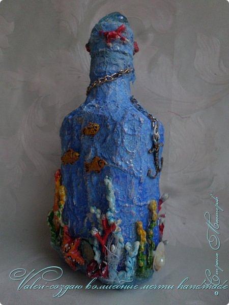 Всем огромный привет!!!!! Наконец то окончила монтаж новой видео-работы, представляю Вашему вниманию декор бутылочки в морском стиле: фото 7