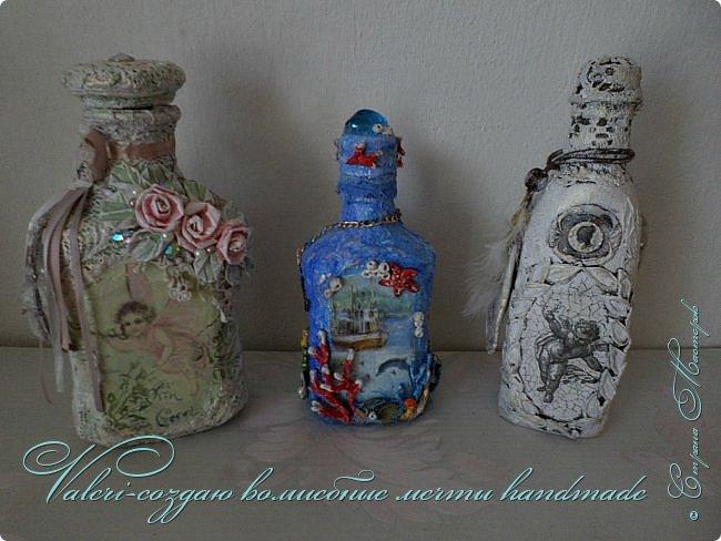 Всем огромный привет!!!!! Наконец то окончила монтаж новой видео-работы, представляю Вашему вниманию декор бутылочки в морском стиле: фото 14
