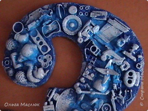 Хлам - цифра в подарок для мальчика в сине - голубом цвете. фото 2