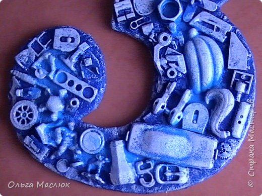 Хлам - цифра в подарок для мальчика в сине - голубом цвете. фото 3