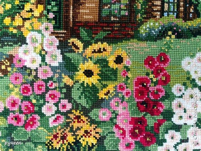 Набор для вышивки крестом от риолис, размер готовой работы 38*26. Одна из моих последних больших работ...пока оформлен в обычную рамочку, конечно хочется оформить в багетной ...но за неимением пока так ... фото 3