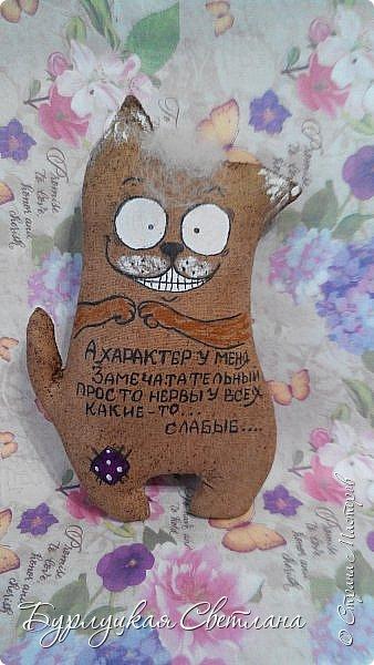 """""""Кофейные позитивчики""""""""Тильда коты и тюльпаны"""" фото 4"""