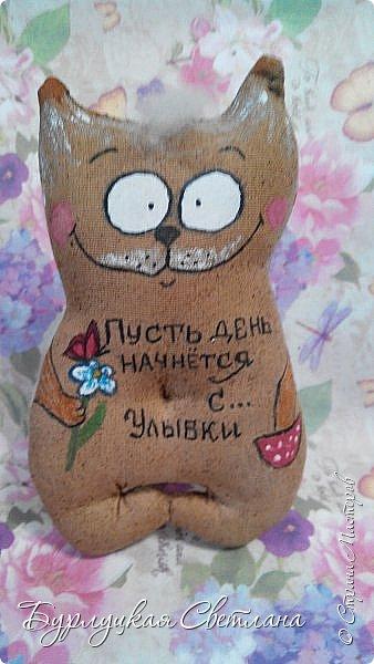 """""""Кофейные позитивчики""""""""Тильда коты и тюльпаны"""" фото 8"""