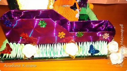 Органайзер для канцтоваров,украшенный павлином и розочками.Элизе 8лет фото 6
