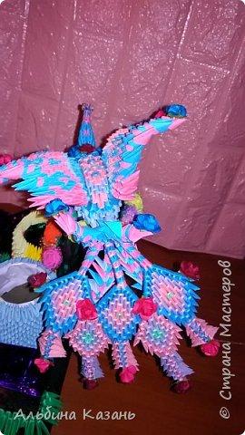 Органайзер для канцтоваров,украшенный павлином и розочками.Элизе 8лет фото 9