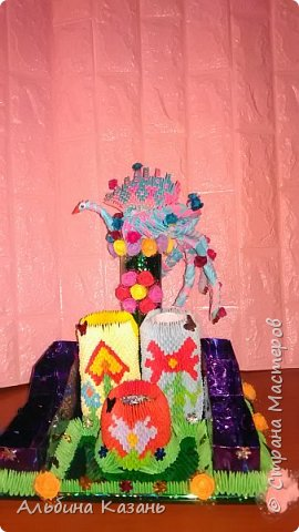 Органайзер для канцтоваров,украшенный павлином и розочками.Элизе 8лет фото 1