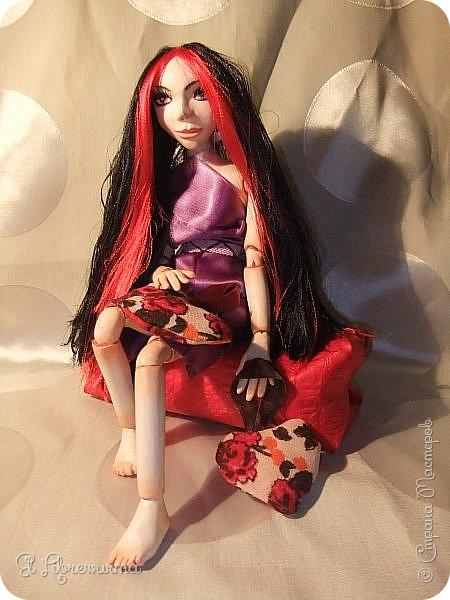 Моя первая шарнирная кукла —  Ехидна фото 14