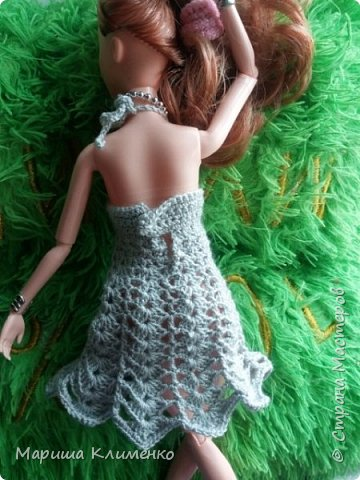 И снова всем приветик! А вот и новый наряд для нашей новенькой. Назвала ее Шарлотта. Изначально планировалась ночная рубашечка, но процесс работы показал совсем другой результат))) И получилось маленькое платице для вечеринки)) фото 5