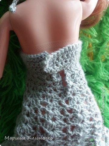 И снова всем приветик! А вот и новый наряд для нашей новенькой. Назвала ее Шарлотта. Изначально планировалась ночная рубашечка, но процесс работы показал совсем другой результат))) И получилось маленькое платице для вечеринки)) фото 7