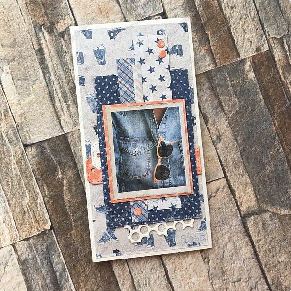 Тружусь по чуть-чуть:) Видела в сети элегантно стильную шоколадницу из этого листа бумаги от скрапберис  и планировала повторить :) Но сделала открытку  в своем духе;) фото 5