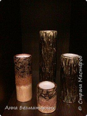 Вот такие гипсовые свечи делала на новый год. За основу взяла обычные бумажные бобины.