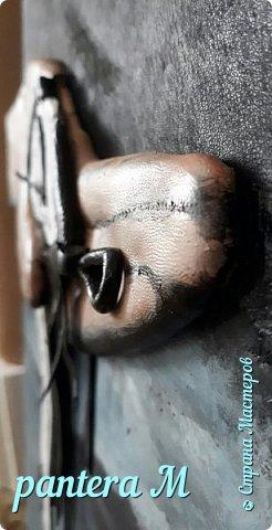 "Картина из кожи ""Время"" фото 2"