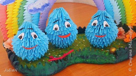 Всем добрый день! Поздравляю все детей с праздником.  У моего сына группа в садике называется Капельки.  И вот так удалось изобразить это название.  фото 3