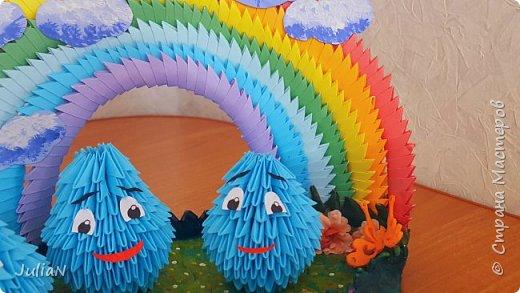 Всем добрый день! Поздравляю все детей с праздником.  У моего сына группа в садике называется Капельки.  И вот так удалось изобразить это название.  фото 4