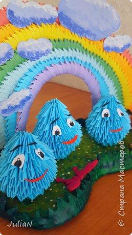 Всем добрый день! Поздравляю все детей с праздником.  У моего сына группа в садике называется Капельки.  И вот так удалось изобразить это название.  фото 1