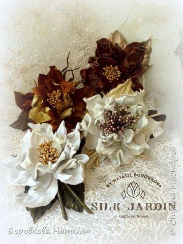 Цветы из кожи фото 11