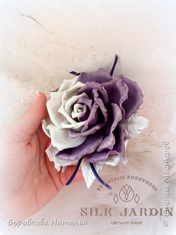 Цветы из кожи фото 13