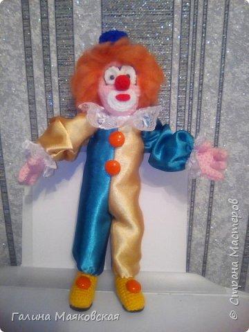 Привет всем! Я снова с куклами и игрушками. Делала по настроению и под заказ. Почти все уже меня покинули, остались только фотки. Клоун Вася: фото 1