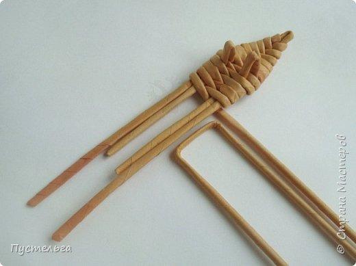 """Вот ещё один лесной житель - хитрый лис. Трубочки из потребительской бумаги """" Кондопога"""", полоса 7 см, спица 1,2 мм. Всего 13 трубочек. фото 8"""