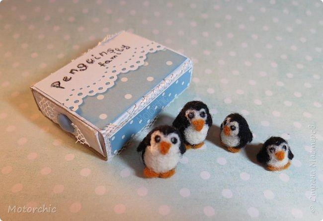 Завершён мой очередной долгострой - крошечные пингвинчики из шерсти