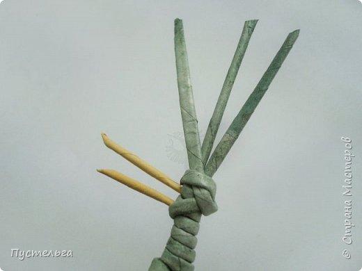 """Трубочки из из потребительской бумаги """"Кондопога"""", полоса 7 см, спица 1,2 мм. Зелёные - 16 шт. Серые - 8 шт. Жёлтые 9 шт. фото 15"""
