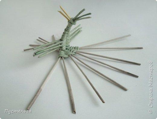 """Трубочки из из потребительской бумаги """"Кондопога"""", полоса 7 см, спица 1,2 мм. Зелёные - 16 шт. Серые - 8 шт. Жёлтые 9 шт. фото 19"""