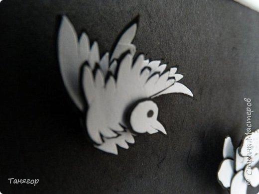 """Добрый день или вечер. Представляю вашему вниманию вторую картинку из серии """"Мой монохром"""".  На этот раз не журавли, а птички. фото 7"""