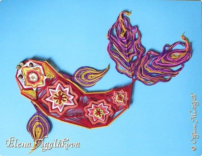 """Моя новая импровизация - Мандала-Рыбка.  Это один из самых сильных и благоприятных талисманов, приносящих в дом благополучие, удачу и процветание. Рыба – это символ удачи и духовных достижений в культурах разных народов и главная исполнительница желаний. Китайское слово """"юй"""" означает одновременно и рыбу и изобилие. фото 1"""