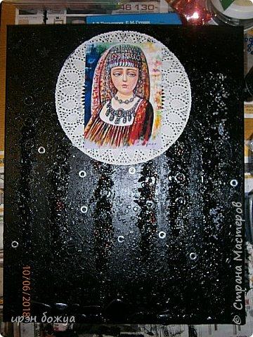 Это панно сделано в подарок женщине с армянскими корнями. Работа выполнена по мотивам работ Ольги  Кравец. В окончательном варианте фото оформила в красную рамочку. Фото добавлю потом. фото 6