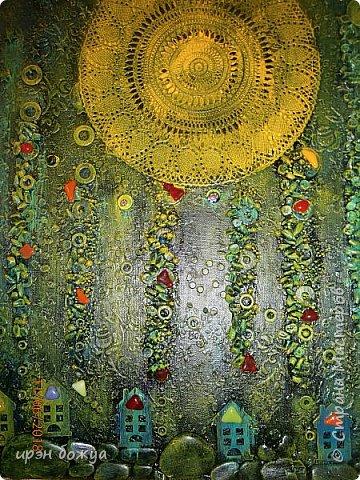 Это панно сделано в подарок женщине с армянскими корнями. Работа выполнена по мотивам работ Ольги  Кравец. В окончательном варианте фото оформила в красную рамочку. Фото добавлю потом. фото 17
