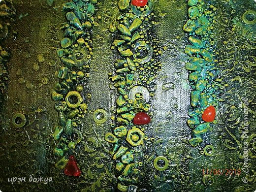 Это панно сделано в подарок женщине с армянскими корнями. Работа выполнена по мотивам работ Ольги  Кравец. В окончательном варианте фото оформила в красную рамочку. Фото добавлю потом. фото 19