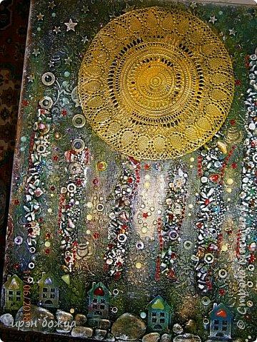 Это панно сделано в подарок женщине с армянскими корнями. Работа выполнена по мотивам работ Ольги  Кравец. В окончательном варианте фото оформила в красную рамочку. Фото добавлю потом. фото 21