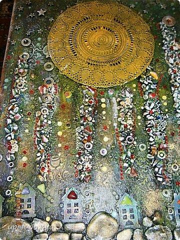 Это панно сделано в подарок женщине с армянскими корнями. Работа выполнена по мотивам работ Ольги  Кравец. В окончательном варианте фото оформила в красную рамочку. Фото добавлю потом. фото 22