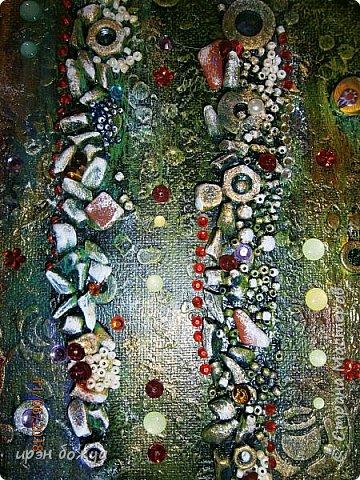 Это панно сделано в подарок женщине с армянскими корнями. Работа выполнена по мотивам работ Ольги  Кравец. В окончательном варианте фото оформила в красную рамочку. Фото добавлю потом. фото 23