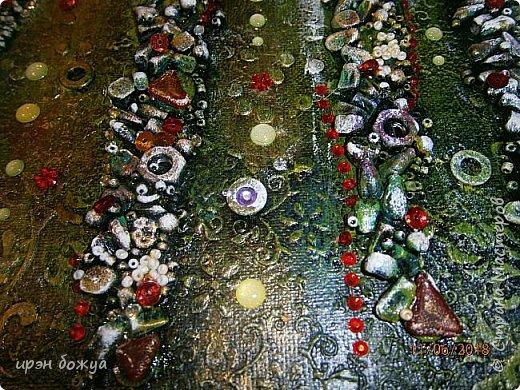 Это панно сделано в подарок женщине с армянскими корнями. Работа выполнена по мотивам работ Ольги  Кравец. В окончательном варианте фото оформила в красную рамочку. Фото добавлю потом. фото 24