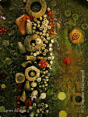 Это панно сделано в подарок женщине с армянскими корнями. Работа выполнена по мотивам работ Ольги  Кравец. В окончательном варианте фото оформила в красную рамочку. Фото добавлю потом. фото 32