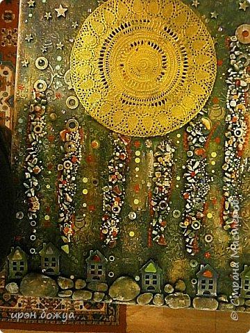 Это панно сделано в подарок женщине с армянскими корнями. Работа выполнена по мотивам работ Ольги  Кравец. В окончательном варианте фото оформила в красную рамочку. Фото добавлю потом. фото 33