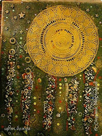 Это панно сделано в подарок женщине с армянскими корнями. Работа выполнена по мотивам работ Ольги  Кравец. В окончательном варианте фото оформила в красную рамочку. Фото добавлю потом. фото 34