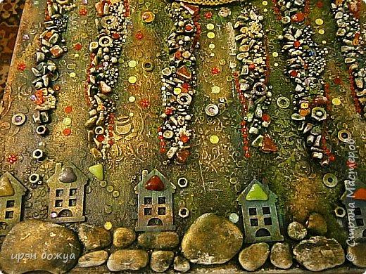 Это панно сделано в подарок женщине с армянскими корнями. Работа выполнена по мотивам работ Ольги  Кравец. В окончательном варианте фото оформила в красную рамочку. Фото добавлю потом. фото 35