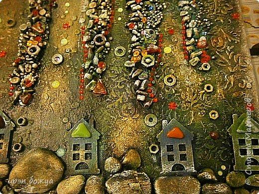 Это панно сделано в подарок женщине с армянскими корнями. Работа выполнена по мотивам работ Ольги  Кравец. В окончательном варианте фото оформила в красную рамочку. Фото добавлю потом. фото 2