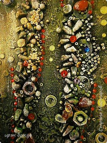 Это панно сделано в подарок женщине с армянскими корнями. Работа выполнена по мотивам работ Ольги  Кравец. В окончательном варианте фото оформила в красную рамочку. Фото добавлю потом. фото 3