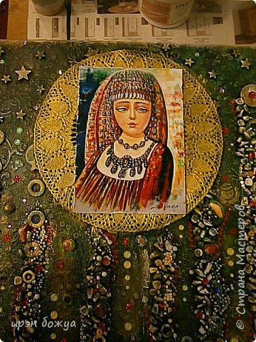 Это панно сделано в подарок женщине с армянскими корнями. Работа выполнена по мотивам работ Ольги  Кравец. В окончательном варианте фото оформила в красную рамочку. Фото добавлю потом. фото 36