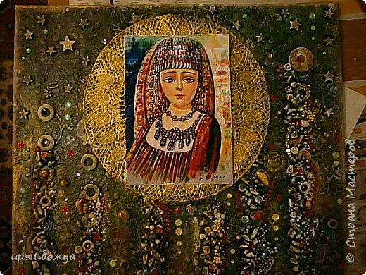 Это панно сделано в подарок женщине с армянскими корнями. Работа выполнена по мотивам работ Ольги  Кравец. В окончательном варианте фото оформила в красную рамочку. Фото добавлю потом. фото 37