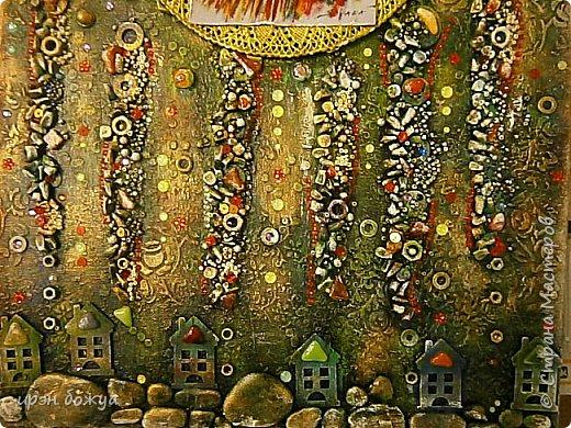 Это панно сделано в подарок женщине с армянскими корнями. Работа выполнена по мотивам работ Ольги  Кравец. В окончательном варианте фото оформила в красную рамочку. Фото добавлю потом. фото 5