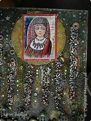 Это панно сделано в подарок женщине с армянскими корнями. Работа выполнена по мотивам работ Ольги  Кравец. В окончательном варианте фото оформила в красную рамочку. Фото добавлю потом. фото 38